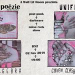 Poezie, Post-Punk și alte Dichiseli de genu'. Zwarte Poëzie (NL), Uniforma, Algebra & Coven Clash